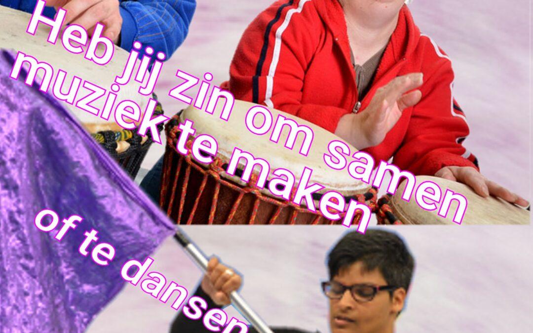 Harpe Davids Zoetermeer start met nieuwe afdeling voor slagwerkers en dansers met een beperking